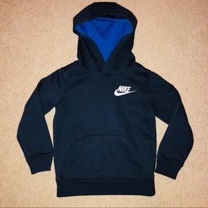 Boys Nike hoodie navy blue size 4T